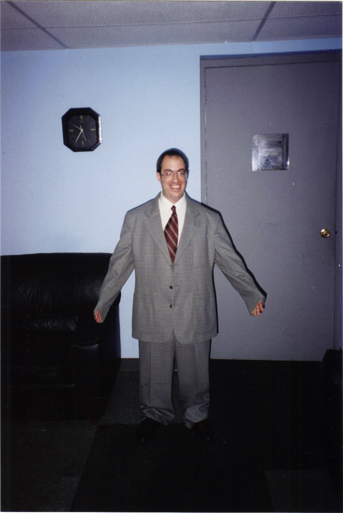 Jeff as a Short Guy in a Big Suit.