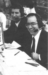 Jeff Eigen as the Color Commentator at a live bike race for The Professional Bicycle League