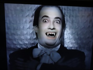 Jeff Eigen as a vampire from a Ricola Cough Drops commercial.